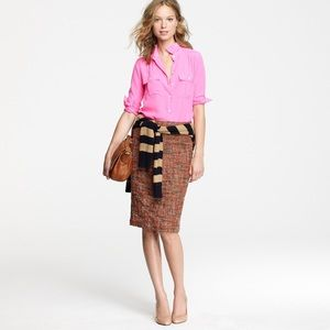 J. Crew No 2 Pencil skirt- Harvest Tweed
